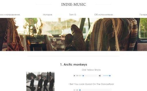 Сайт «Indie-Music»